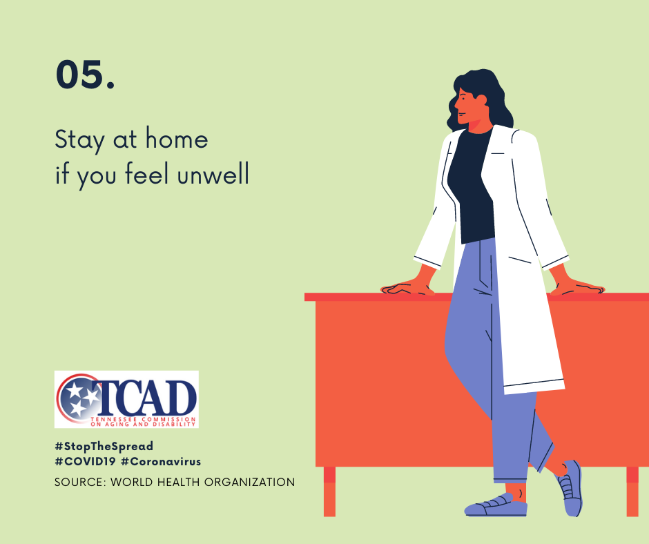 5. Stay at home if you feel unwell