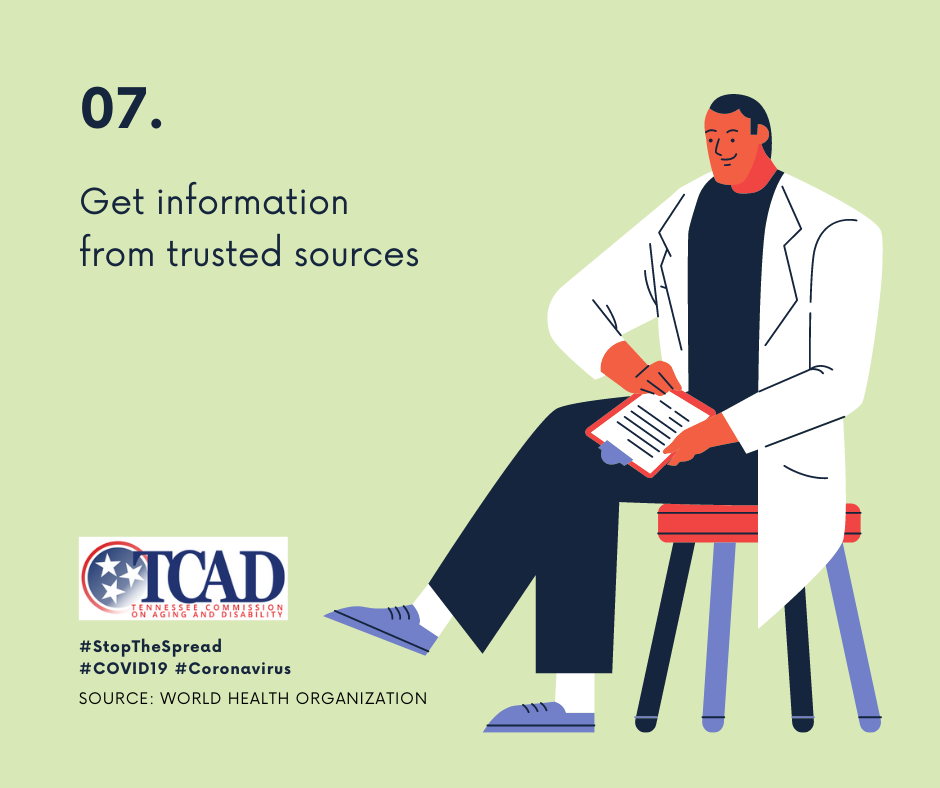 7. Get information from trusted sources