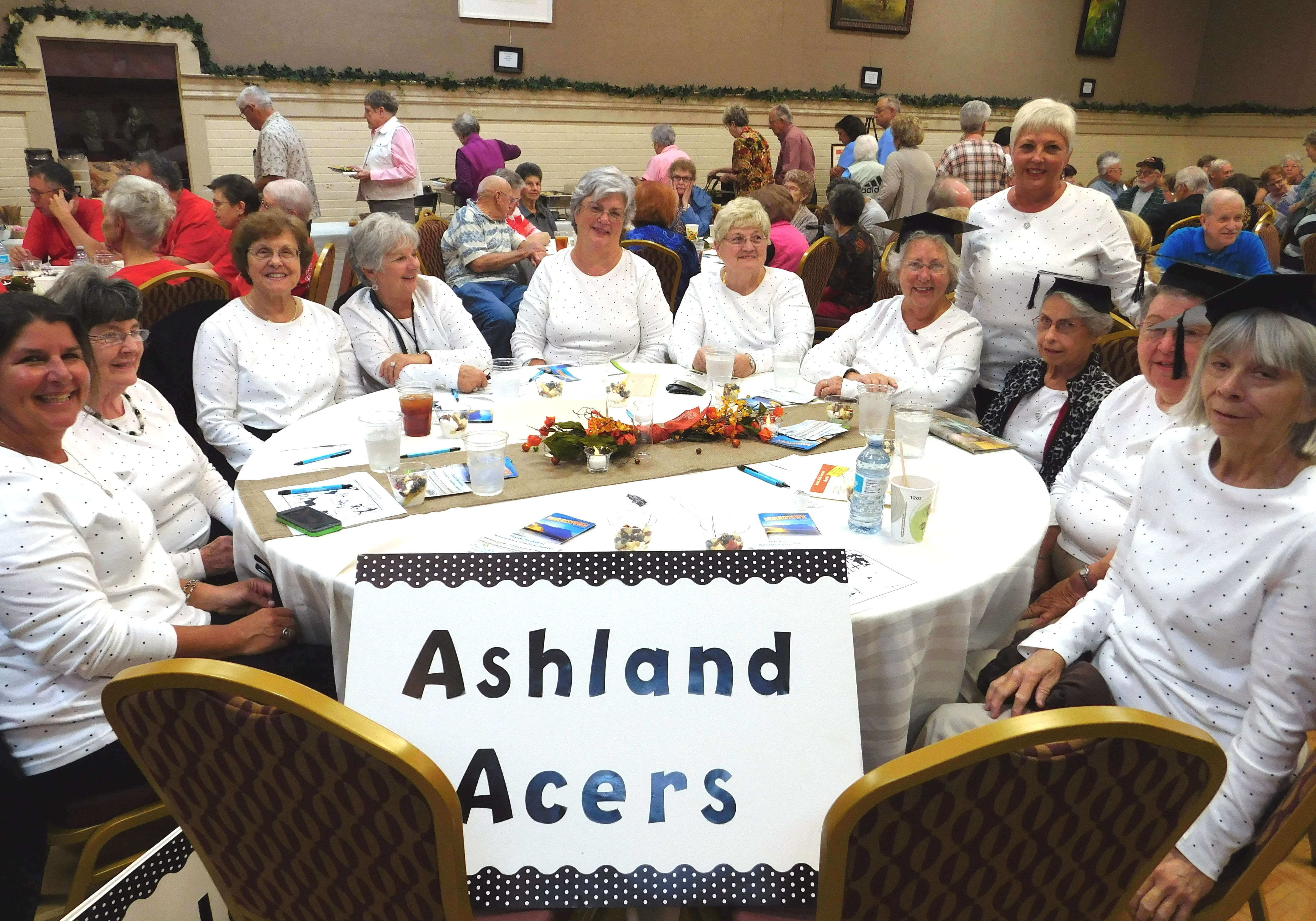 The Ashland City Acers and their support team at the 2015 Tennessee Senior Brain Games championship in Morristown, Tennessee.
