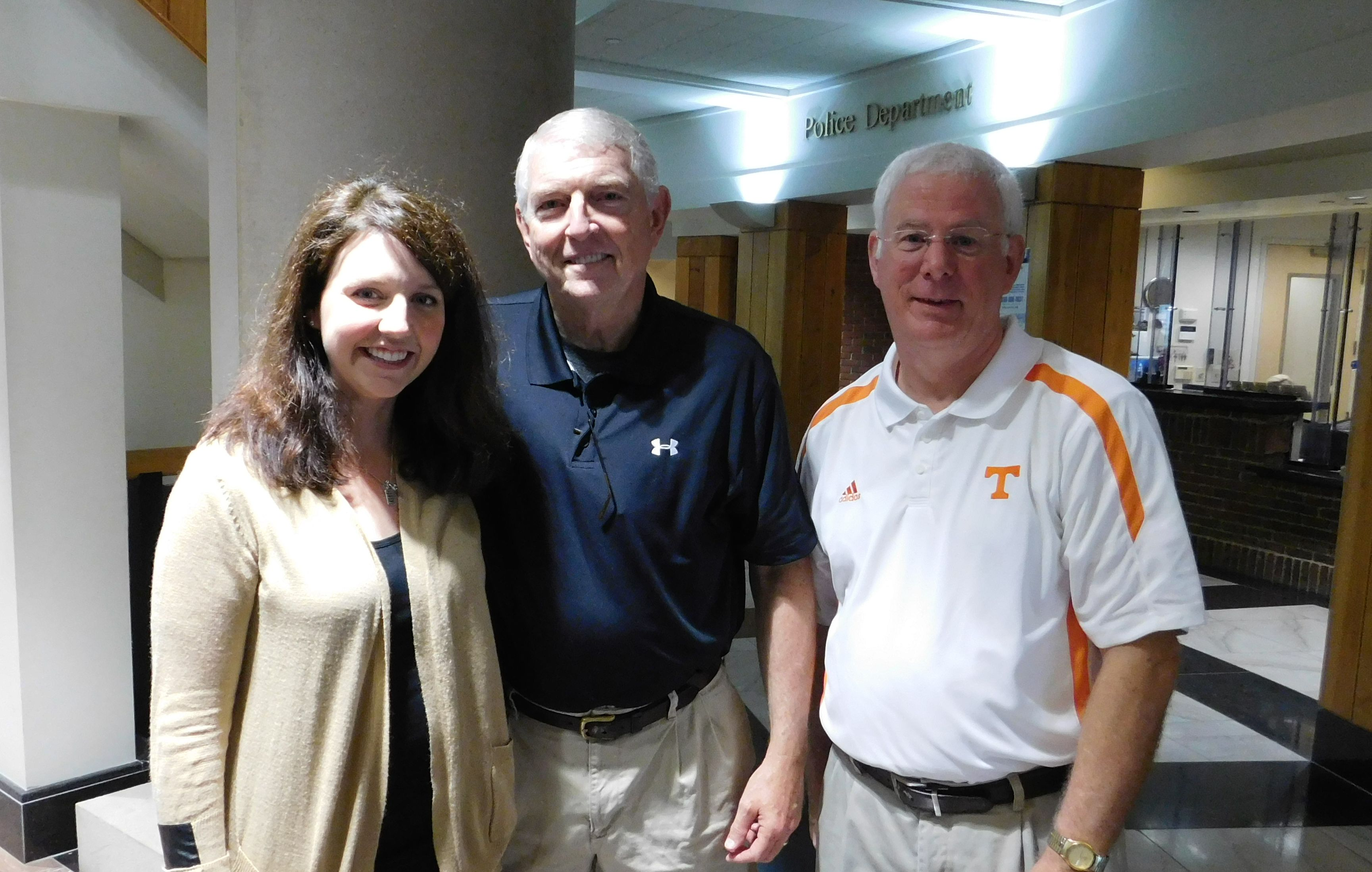 TCAD's Anna Lea Cothron with Morristown Mayor Gary Chesney and Hamblen County Mayor Bill Brittain.