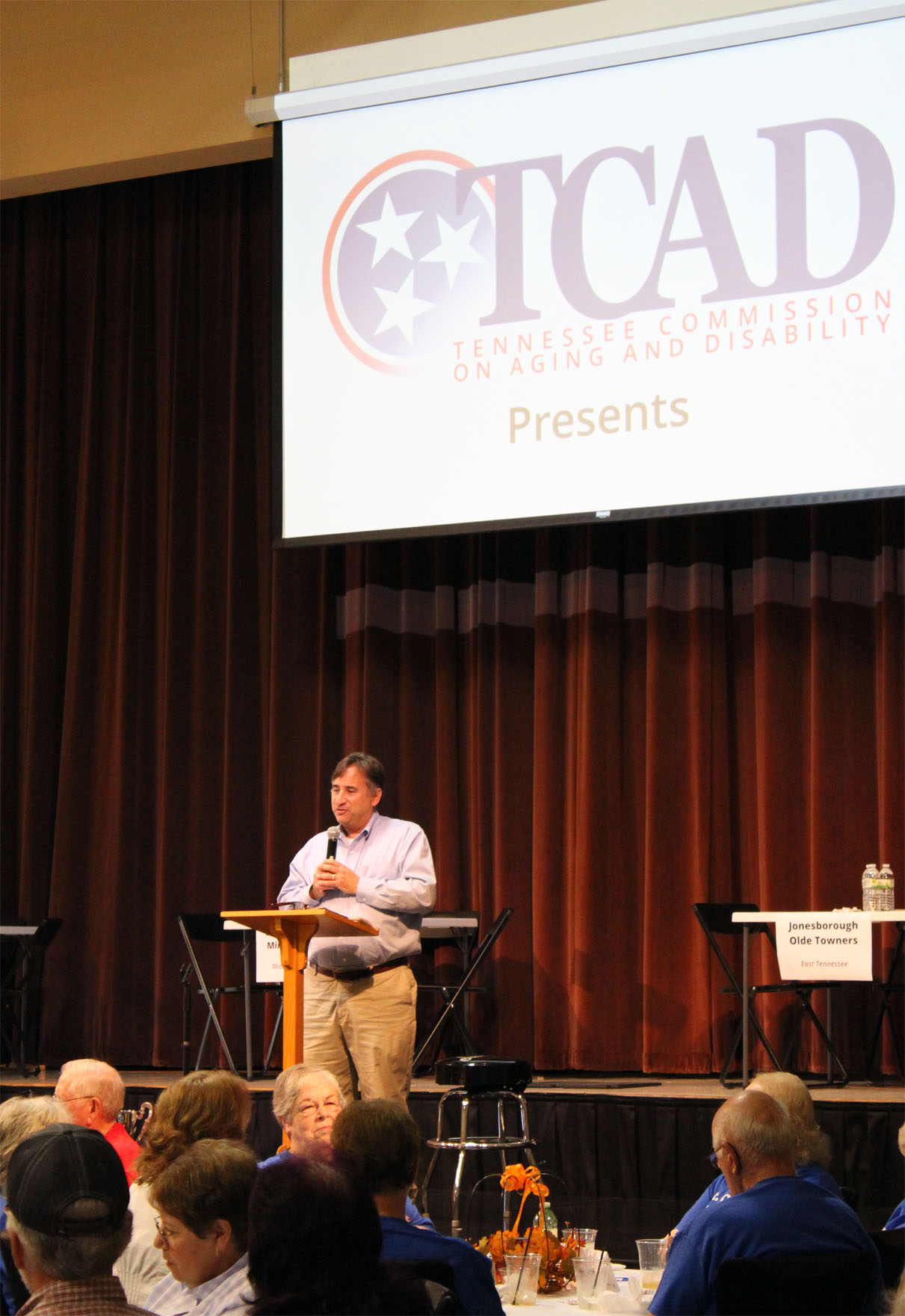 TCAD Director Jim Shulman warms up the audience.