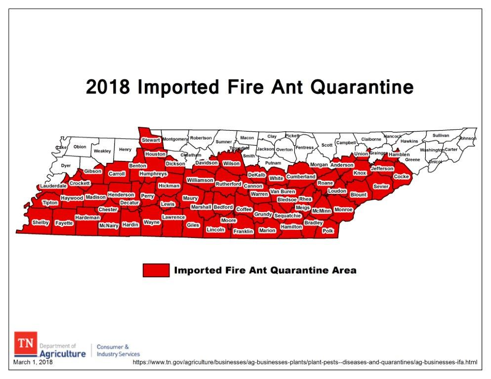 Imported Fire Ants Ifa - Map-of-fire-ants-in-us