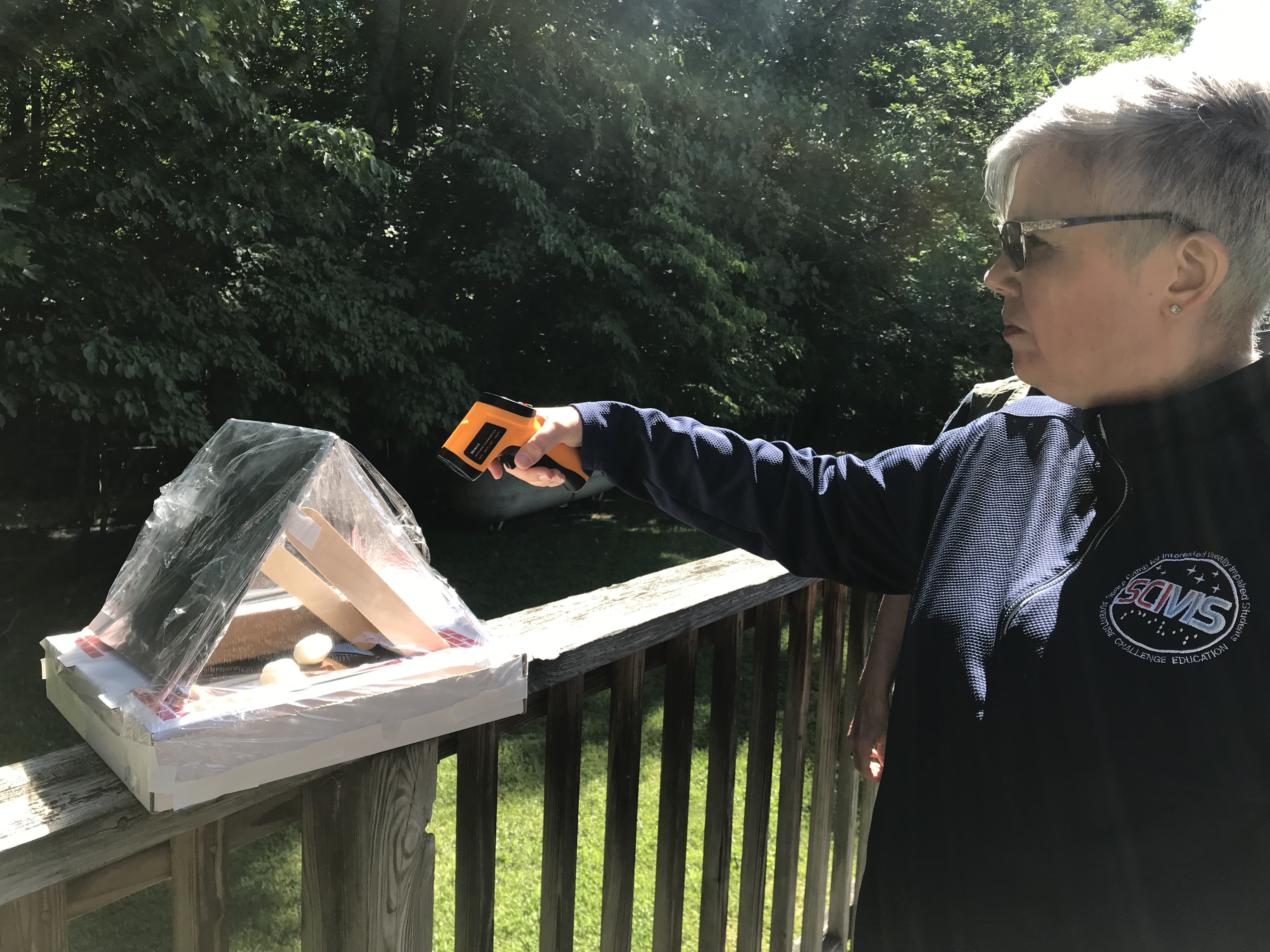 Roan Mountain- Testing a solar oven