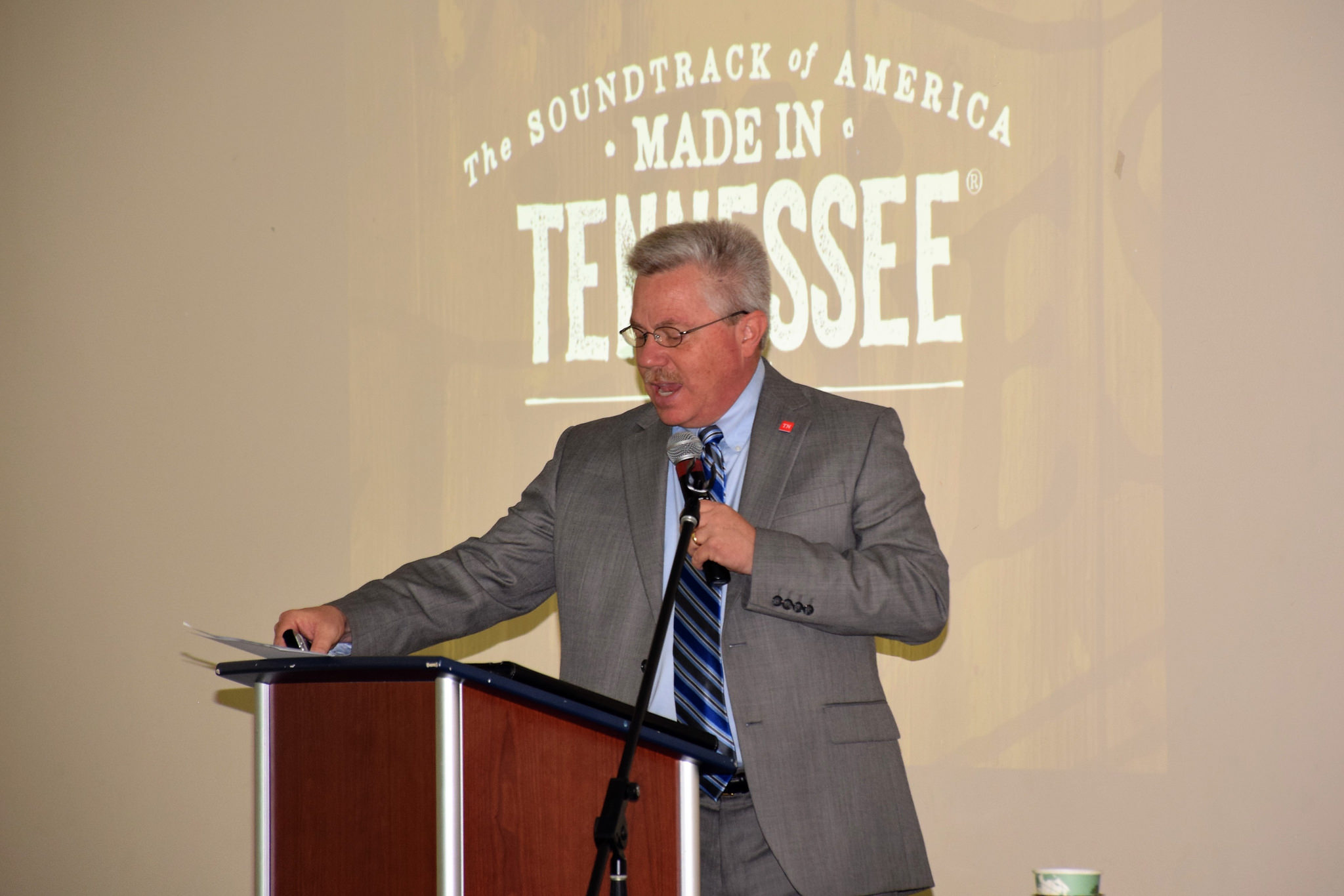 Kevin Triplett, TN Department of Tourist Development, provides a keynote address