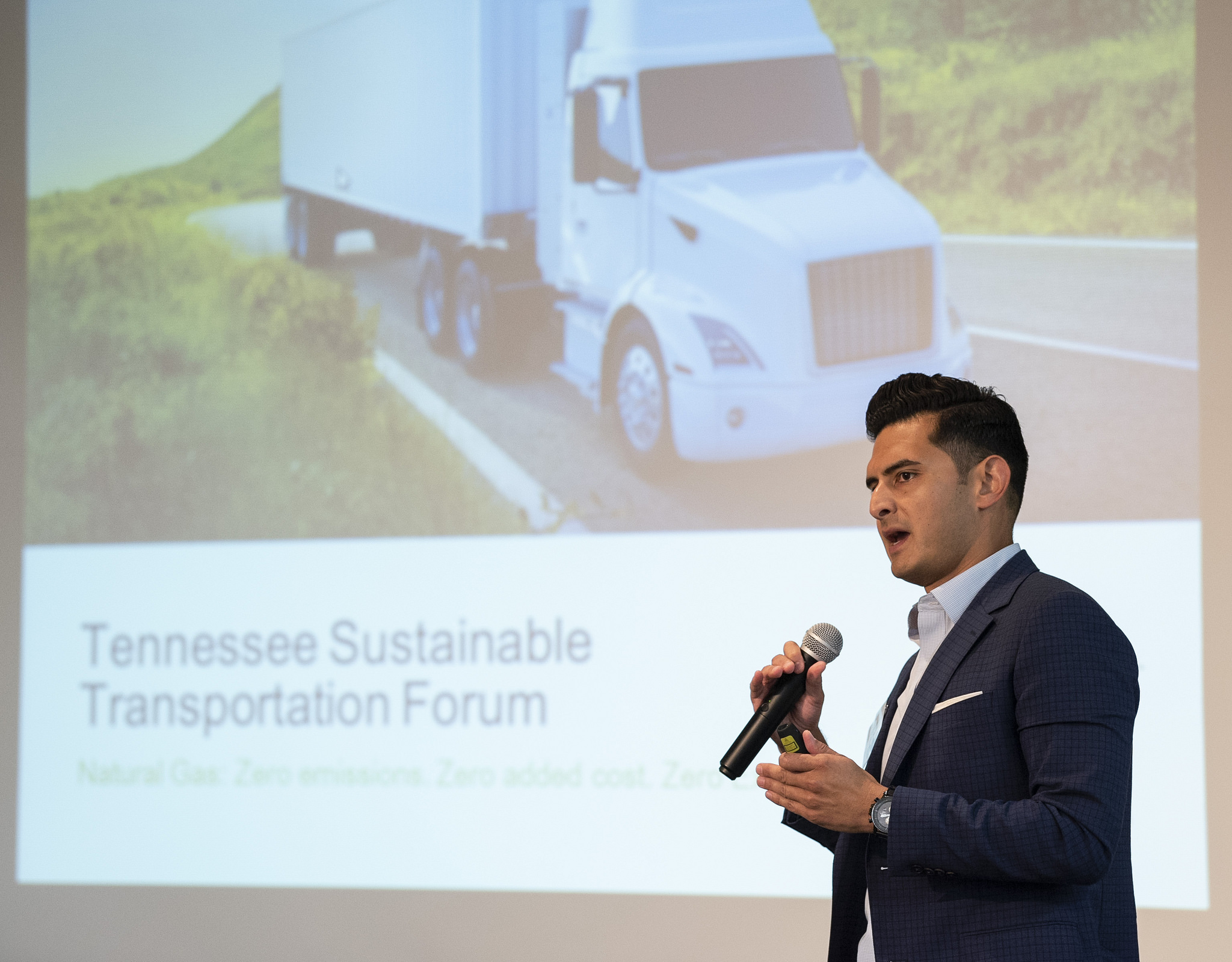 "Andres Carlos, Clean Energy Fuels, speaks on ""Game-Changing Transportation Technologies"" panel"