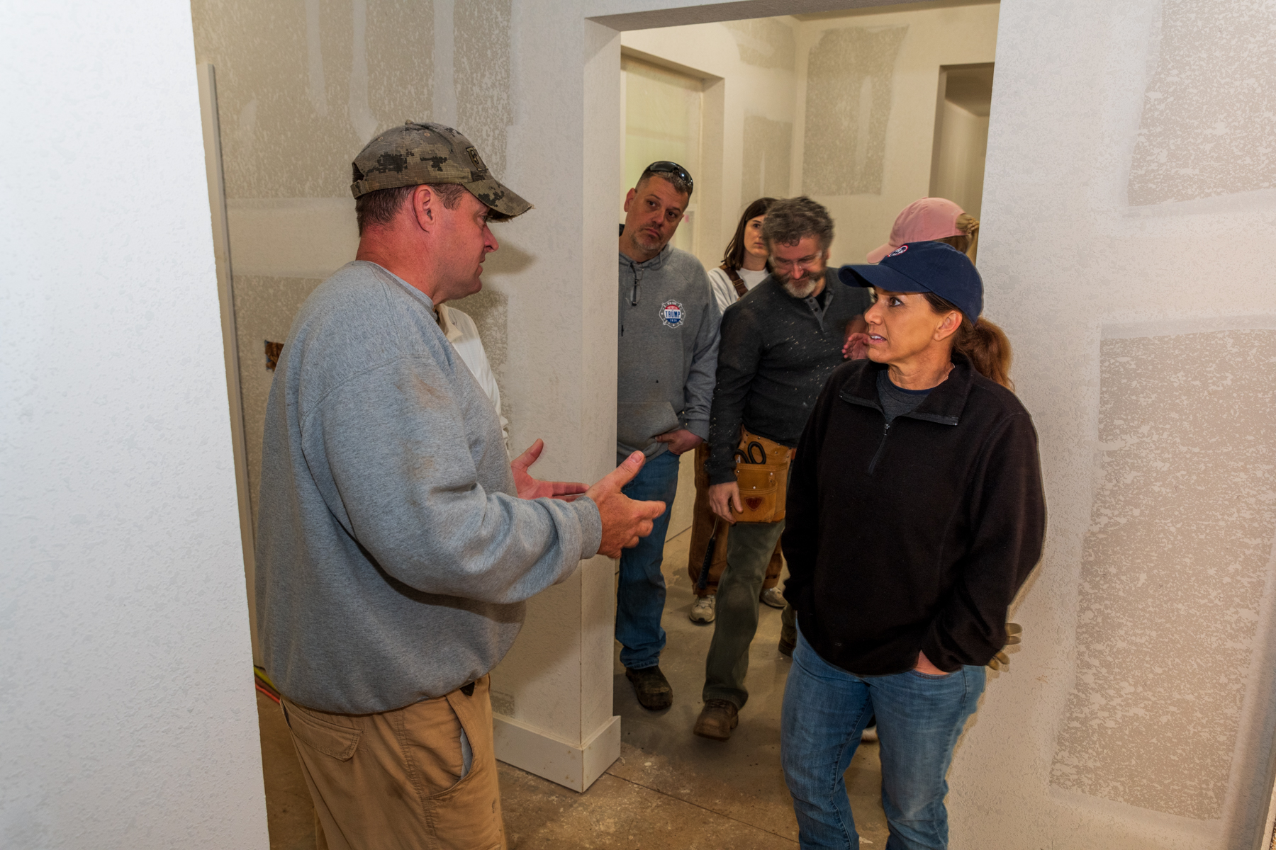 First Lady helps with home build for disabled veteran