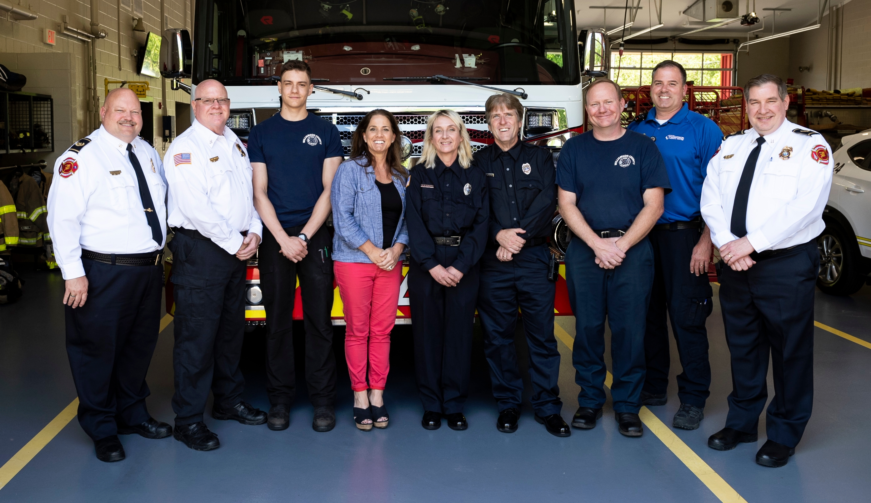 Members from Williamson County Fire/Rescue Station 24