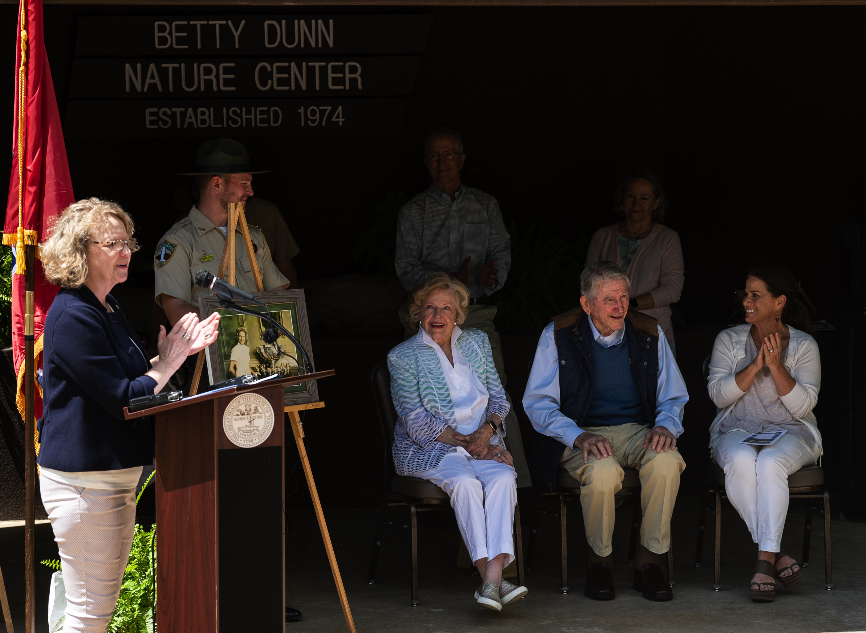 First Lady with Governor and First Lady Dunn at opening of the Betty Dunn Nature Center at Fall Creek Falls