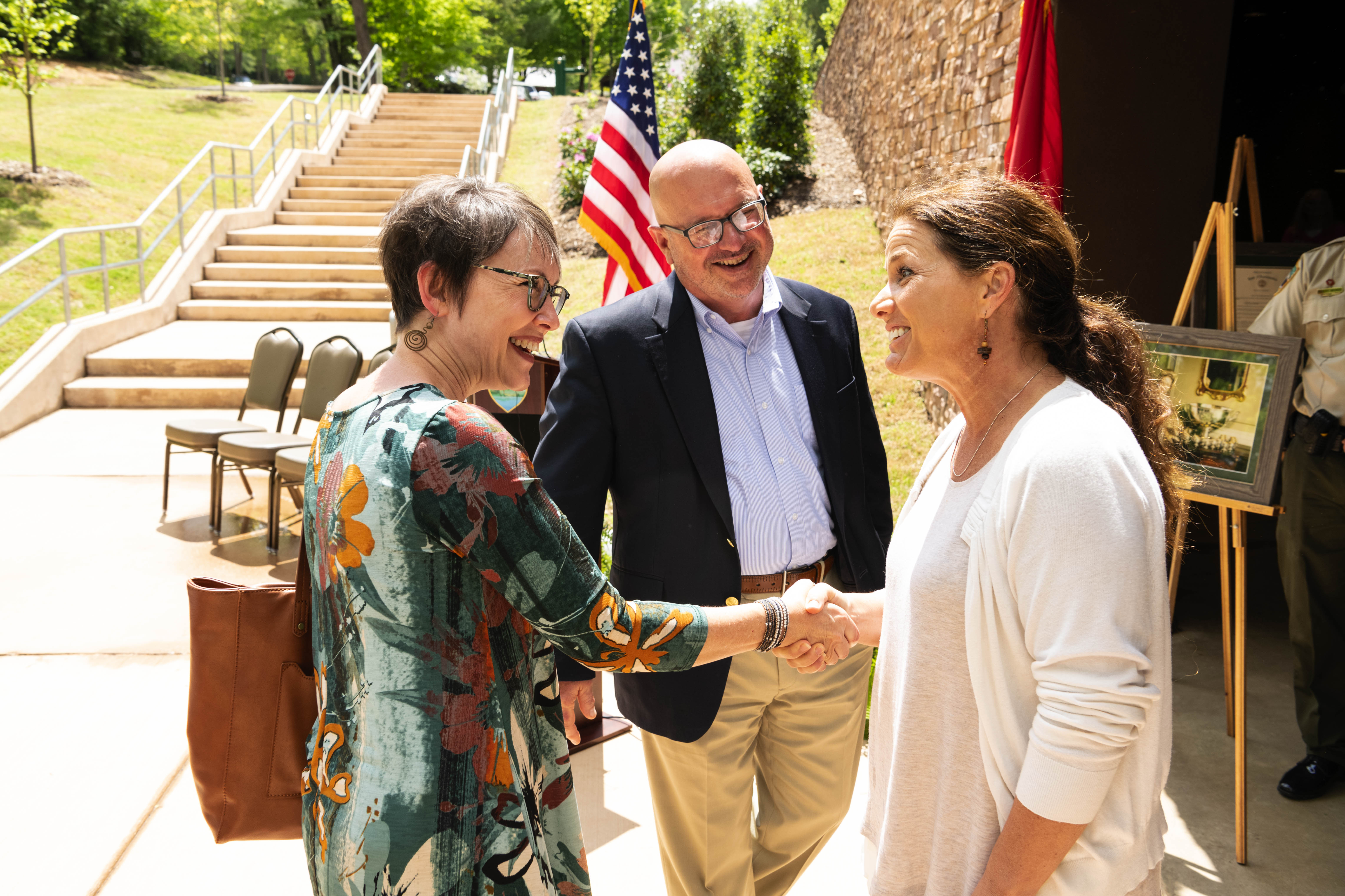 First Lady at opening of the Betty Dunn Nature Center at Fall Creek Falls