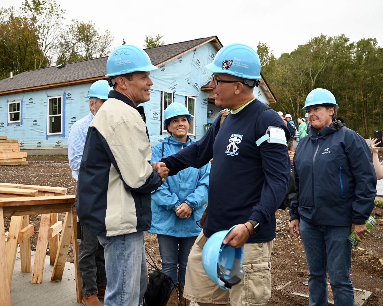 First Lady Maria participates in Carter Work Build with Habitat for Humanity