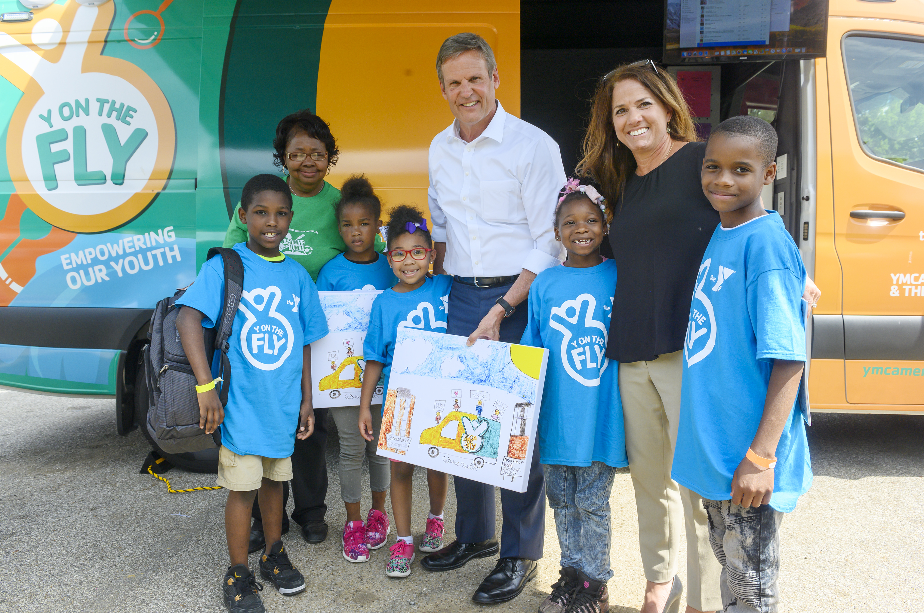 Governor and First Lady Lee visit Y on the Fly of YMCA Memphis and the Mid-South