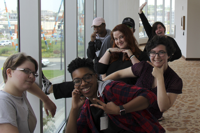 YALC members pose during a break at a Saturday meeting in Downtown Nashville.
