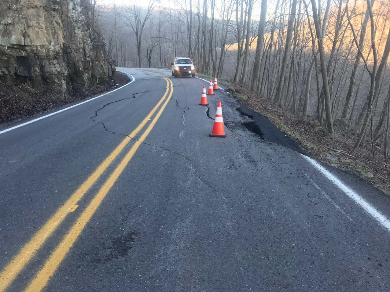 State Route 85 in Fentress County Closed at log mile 6 8 due