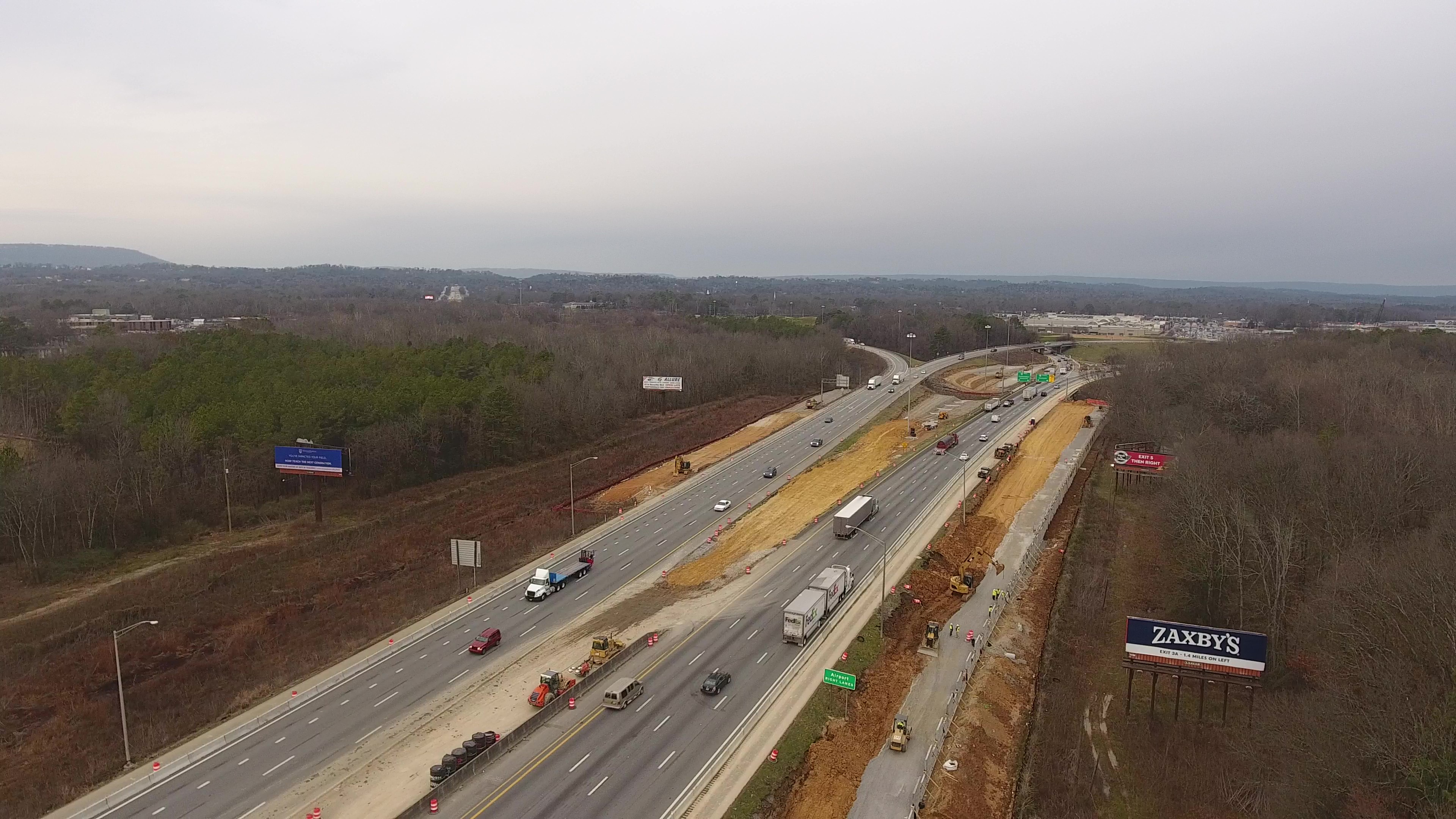 I-75, south of interchange, looking north - Feb 2020