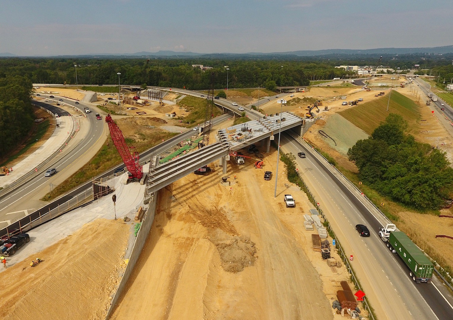 I-75, east of interchange, looking west - July 2020