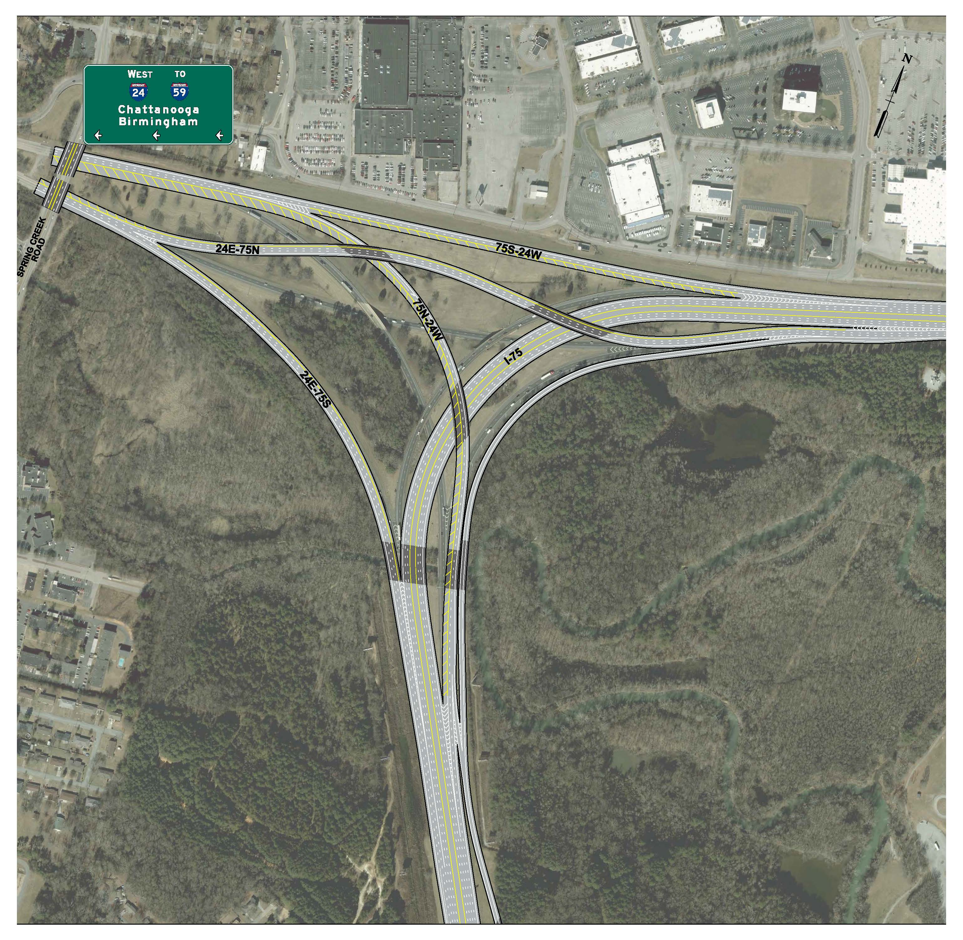 I-75 I-24 Interchange Only