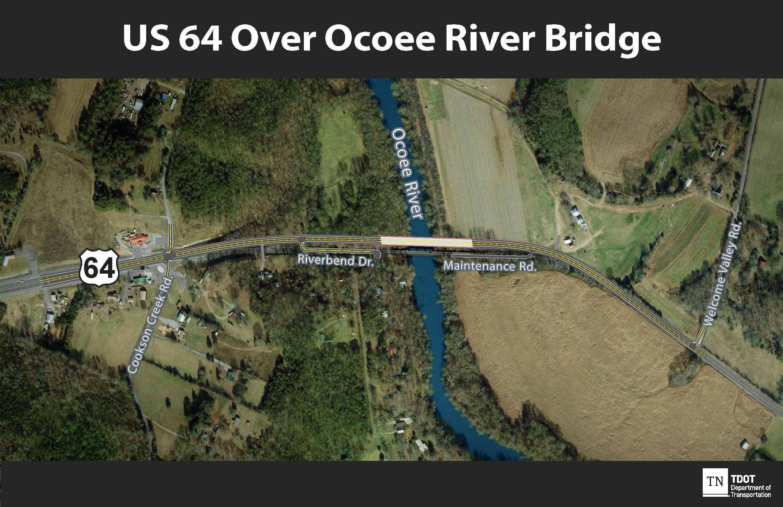 Map Of Us 64 US 64 Bridge Replacement