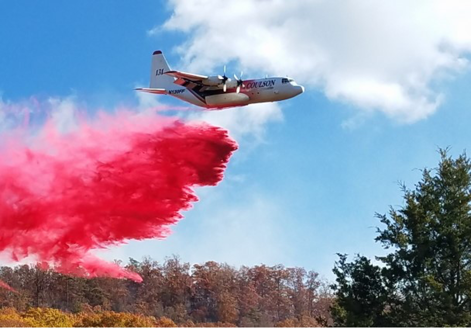 Modern airtankers are fast and capable of dropping 3,000 gallons of retardant on each mission.  Airtankers are valuable when used to protect structures.