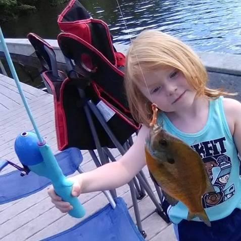 Landin Evans caught a Sunfish from Meadow Park Lake on 5/22/2018