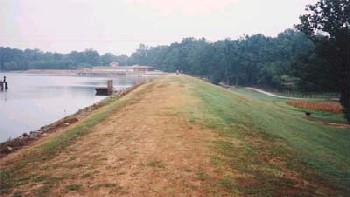 Hatchery pond dam
