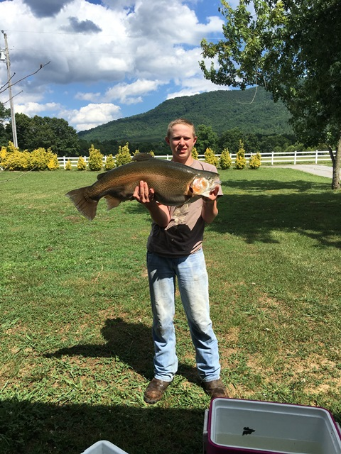 John Morgan III Class A - 18lb, 8 oz. Rainbow Trout