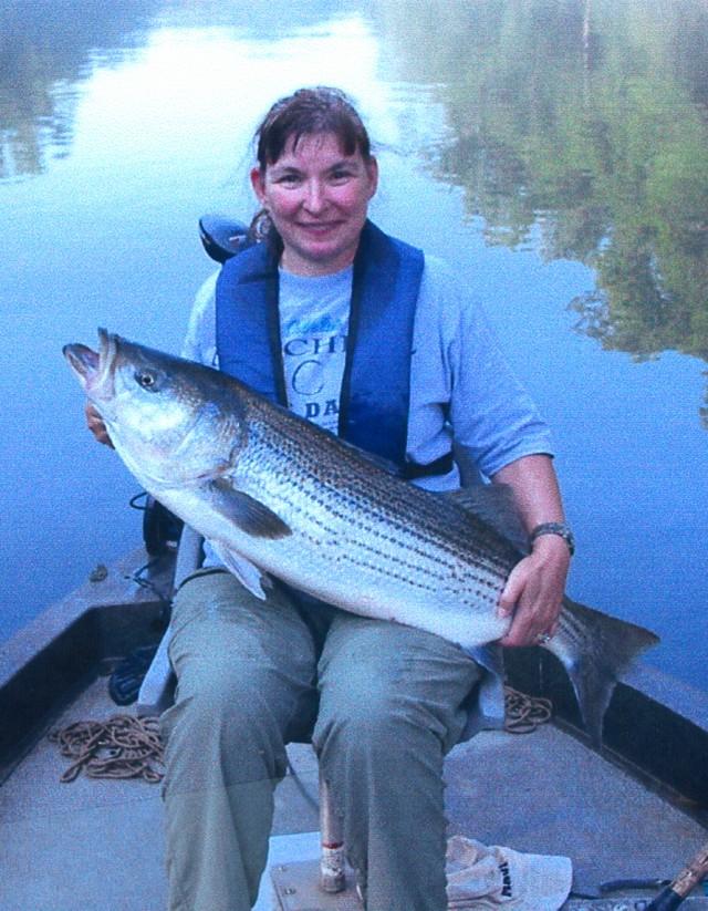 Regina Comley 41 inch Striped Bass