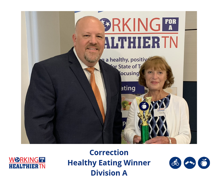 Tennessee Department of Correction's Wellness Council won the Healthy Eating award for Division A.