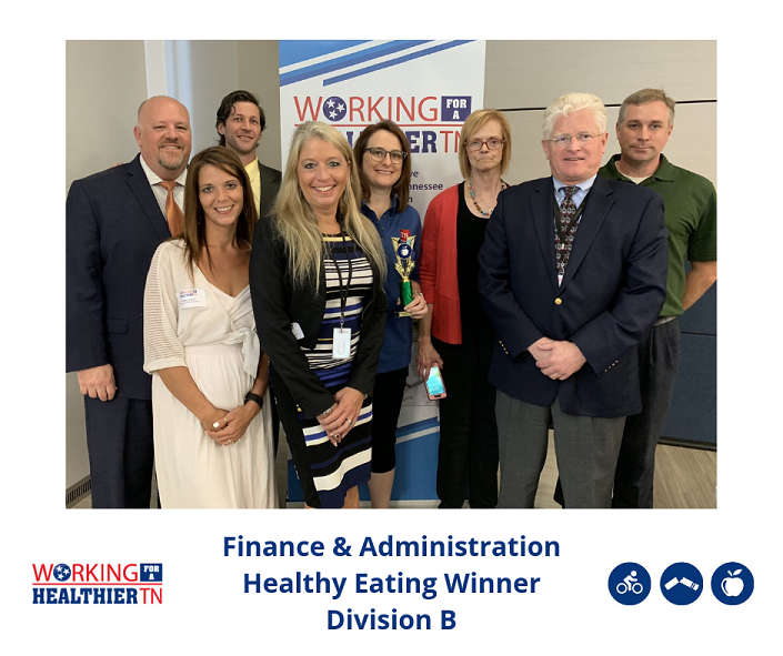 Tennessee Department of Finance and Administration's Wellness Council won Division B's Healthy Eating award.