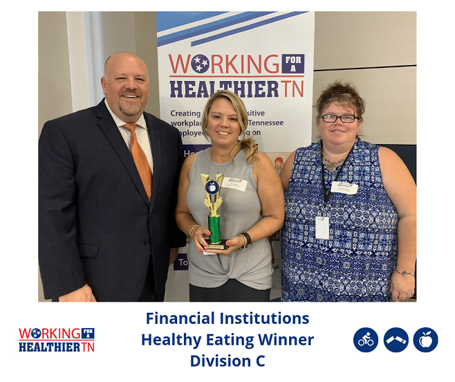 Financial Institutions took home the trophy for Healthy Eating in Division C.