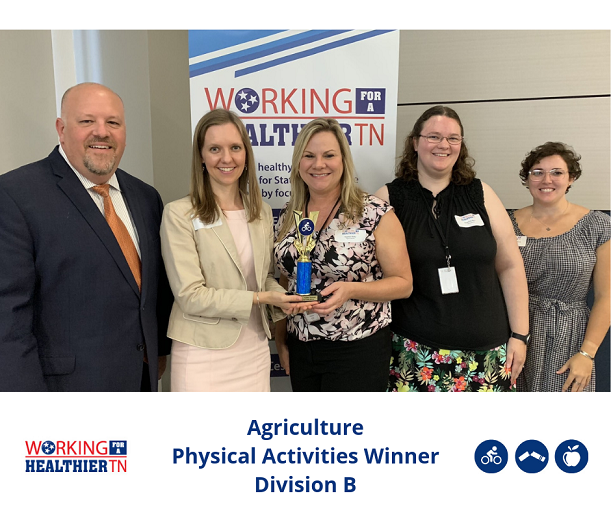 Tennessee Department of Agriculture's Wellness Council won Division B for Physical Activities.