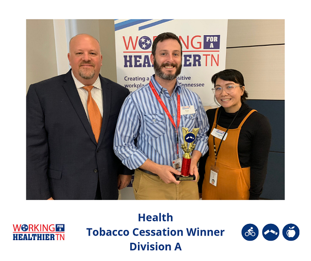 Tennessee Department of Health won the Tobacco Cessation award in Division A.