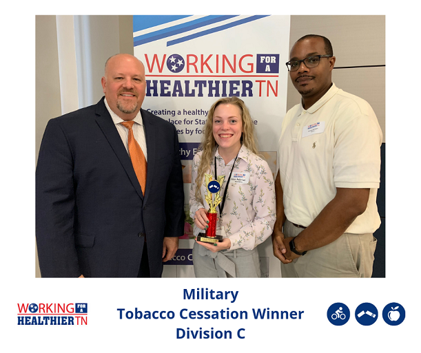 Military won the Tobacco Cessation award in Division C.