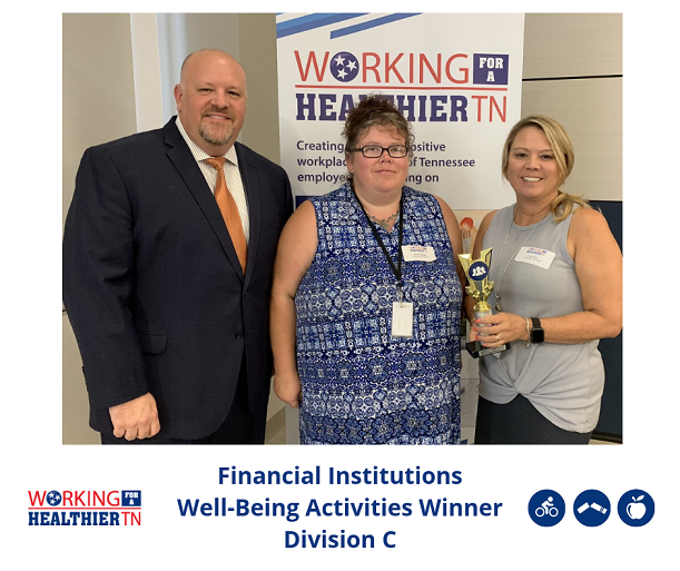 In Division C, Financial Institutions won the Well-Being Activities award.