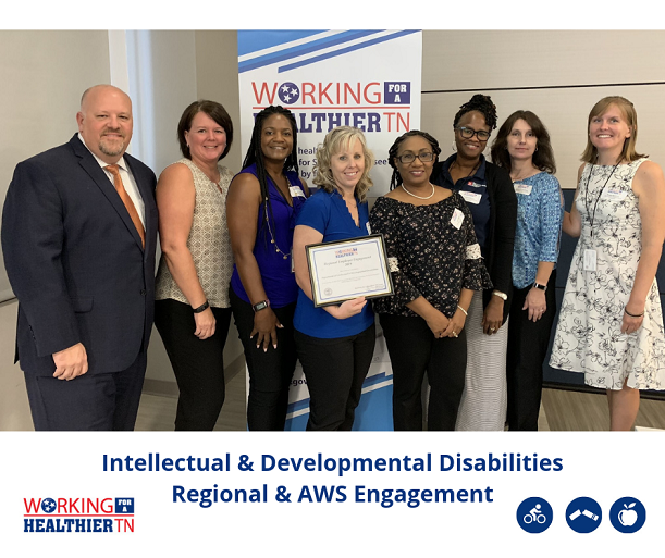 Tennessee Department of Intellectual and Developmental Disabilities's Wellness Council was recognized for having the greatest regional and AWS employee engagement in Division A.