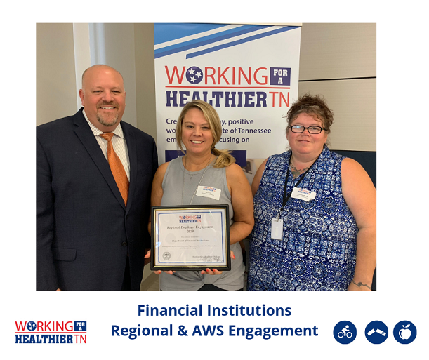 Financial Insitutions was recognized for having the greatest regional and AWS employee engagement in Division C.