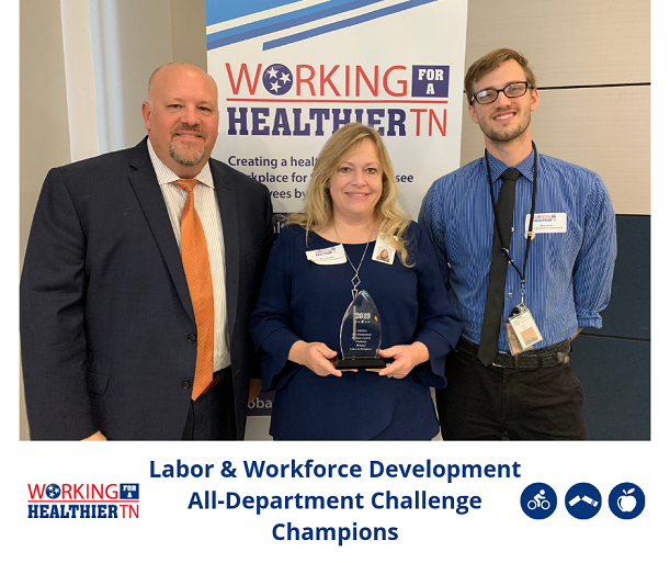 This year we had the highest number of teams competing in the All-Department Physical Activity Challenge - 23 teams representing 10 departments! Congrats to Tennessee Department of Labor and Workforce Development for the win!