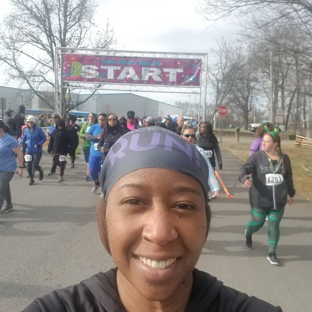 LaTamera Woodley ran the Murfreesboro New Year's Day 5K. Way to go!