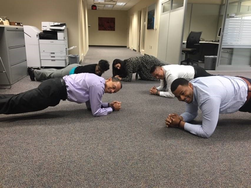 DHS Office of General Counsel doing the Planking Challenge!