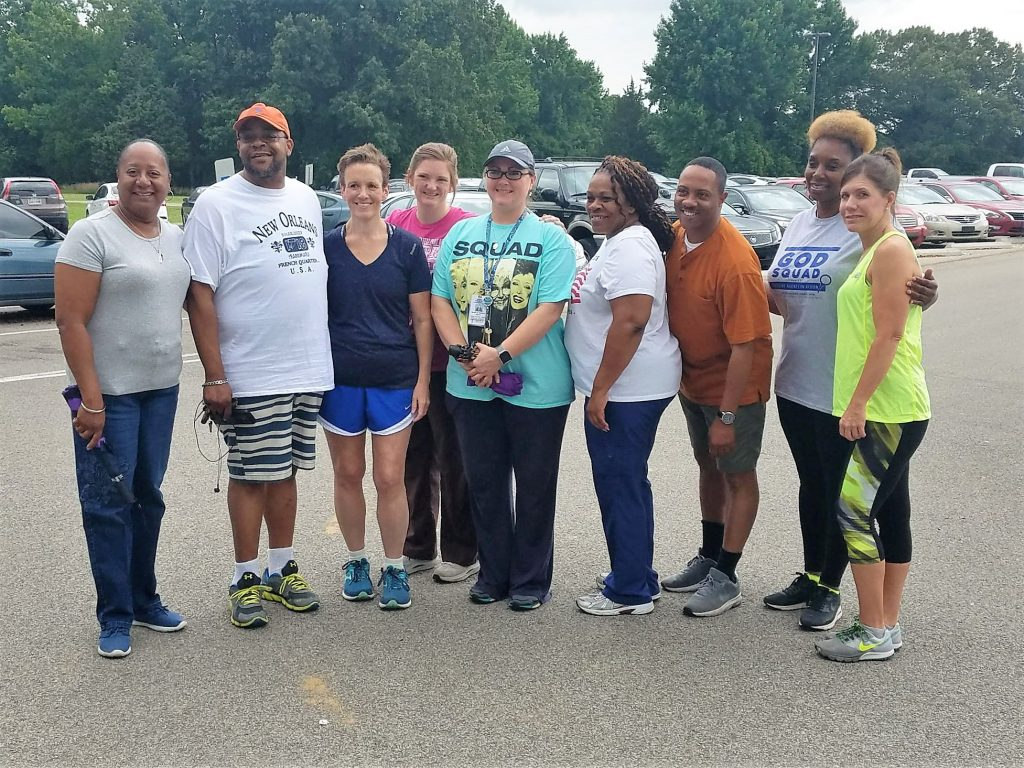 On June 20th, eight employees from the Department of Children's Services joined their Superintendent, Mrs. Hayes, on a walk as part of their Healthy Living Month at WILDER Youth Development Center in Sommerville.