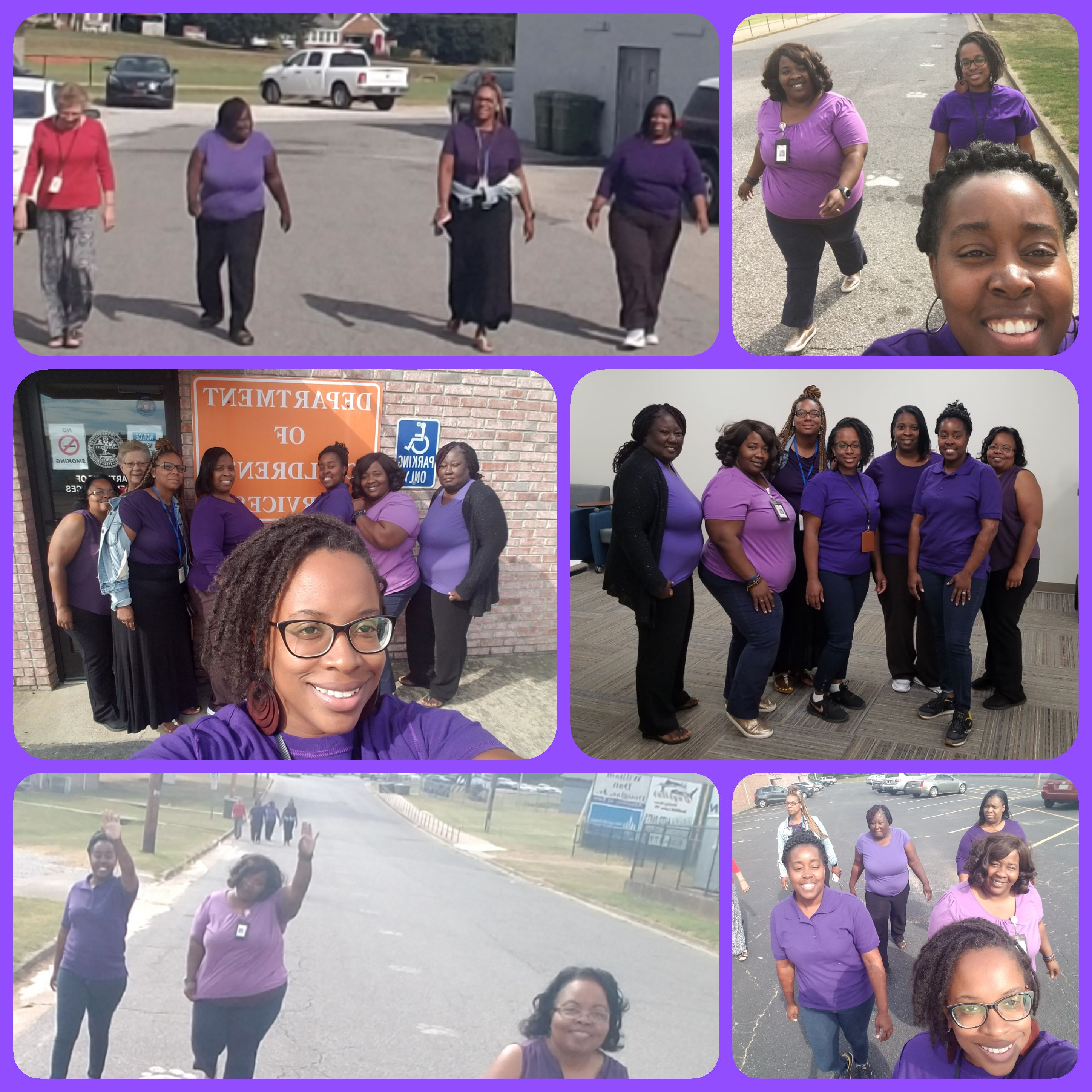 In recognition of National Women's Health & Fitness Day, DCS employees wore purple and took group walks!
