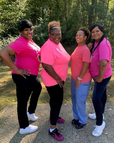 Employees from DIDD in Arlington wore pink for Breast Cancer Awareness Month.