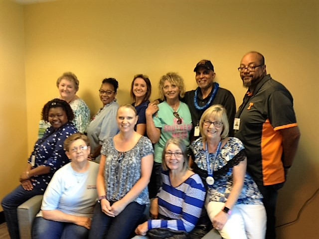 Employees across the state wore blue to raise awareness for Men's Health Month.