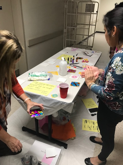 DIDD hosted their Fall Fest on Friday. 55 employees participated. They had a healthier chili/soup cook-off, a wellness booth, information about breast cancer, arts and crafts, and a corn hole tournament.