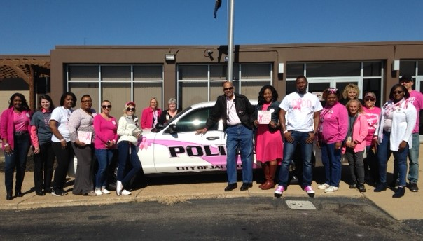 Employees from DIDD in Jackson wore pink for Breast Cancer Awareness Month.