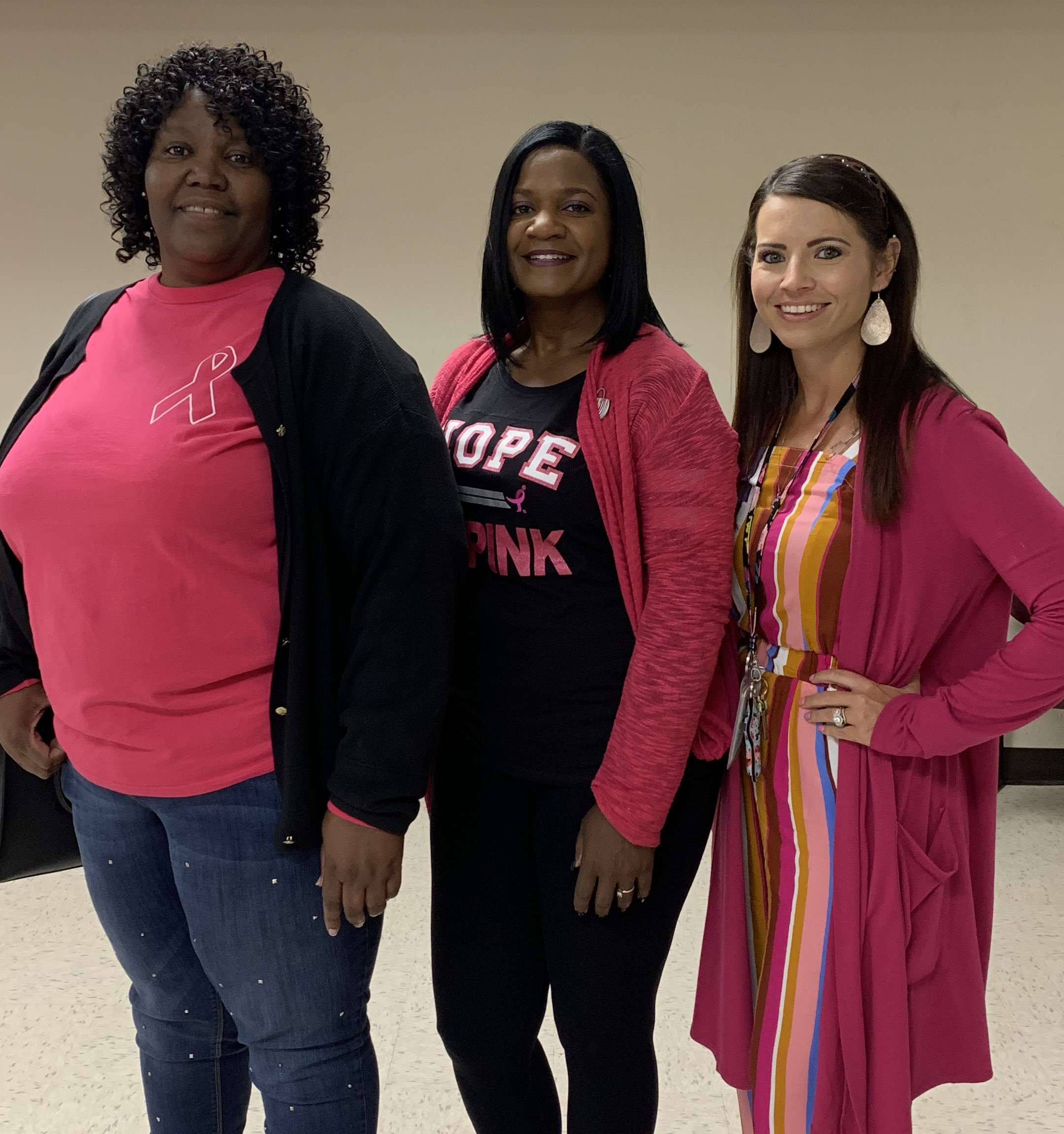 Employees at DIDD's Middle TN office wore pink for Breast Cancer Awareness Month