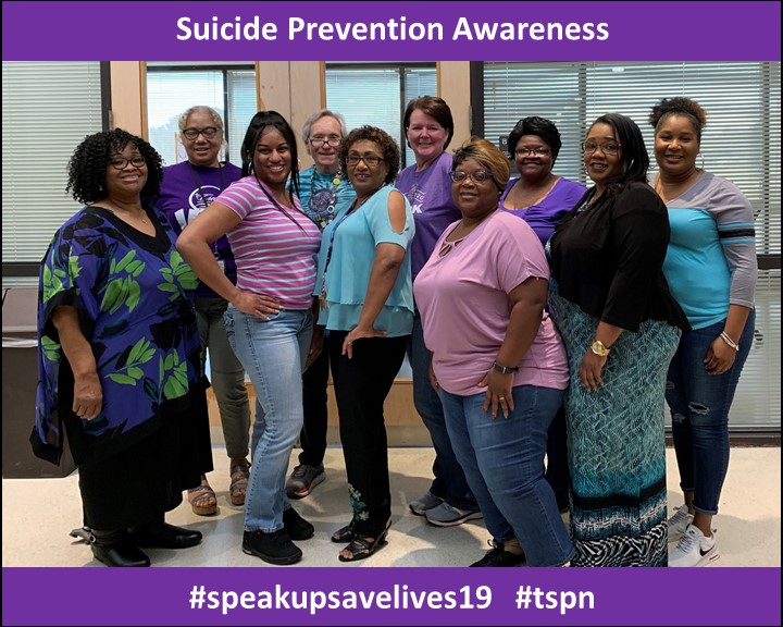 September 27th was Speak Up Save Lives for Suicide Prevention Awareness. DIDD employees wore purple, teal and gray in support.