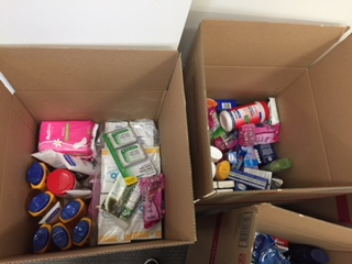 The Department of Financial Institutions hosted a Support Our Troops initiative and challenged the Department of Intellectual & Developmental Disabilities and the Department of Economic & Community Development to participate. They collected items such as dental floss, lip balm, deodorant, razors, coffee creamer, beef jerky and more. We're told the pictures don't do it justice. The boxes will be delivered to the Support Our Troops Organization warehouse in Tampa. Way to go!