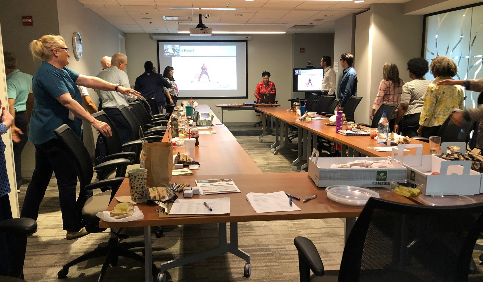 TDEC recently hosted the Avoiding Injuries During Exercise Lunch 'n Learn at the TN Tower. Employees from two different field offices participated via teleconference. Regional Wellness Coordinator Allison Nance facilitated.