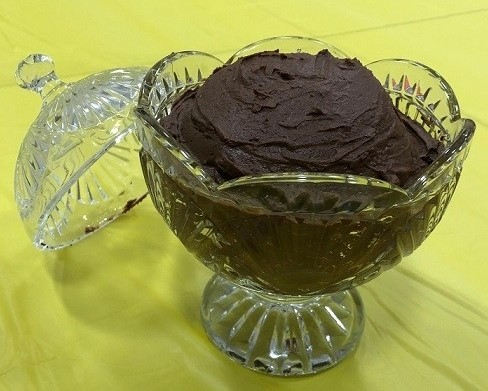 Avocado chocolate mousse from the April fool's taste test