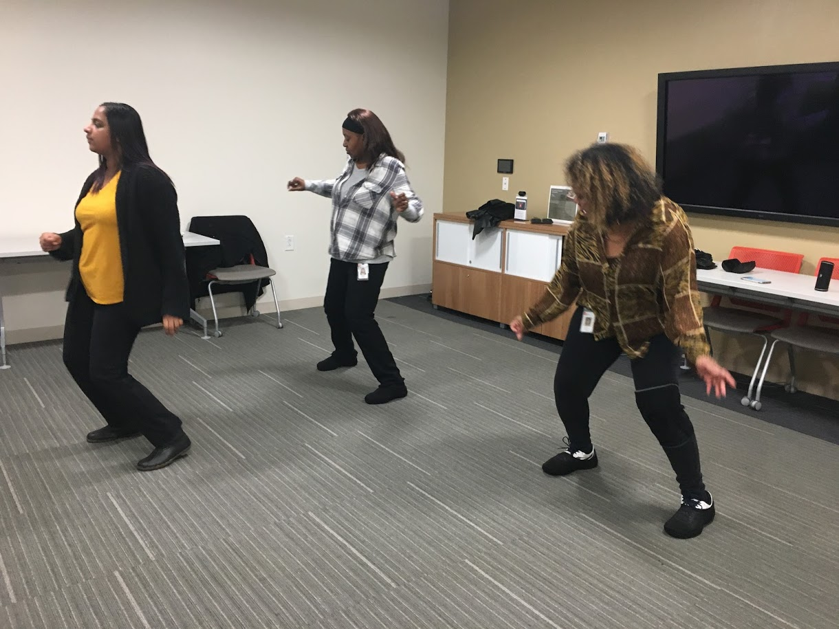 Led by Dorothy Bard every Monday afternoon, these upbeat, beginner-friendly hip-hop line dances will get your heart rate up. It's estimated you can get up to 4,000 steps in ONE class!